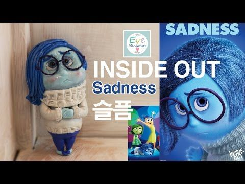 인사이드 아웃 슬픔 캐릭터 만들기 Inside out Sadness Polymer clay Tutorial - YouTube