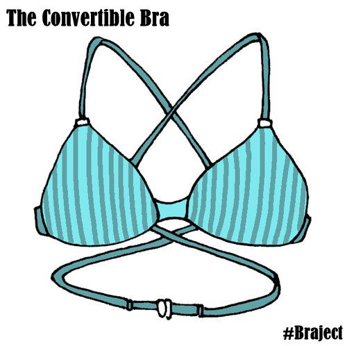 #ConvertibleBra With multiple ways to adjust, move or replace the strap, you can wear this bra in any way that suits you. #Bra #Brassiere #Lingerie #India #Illustration