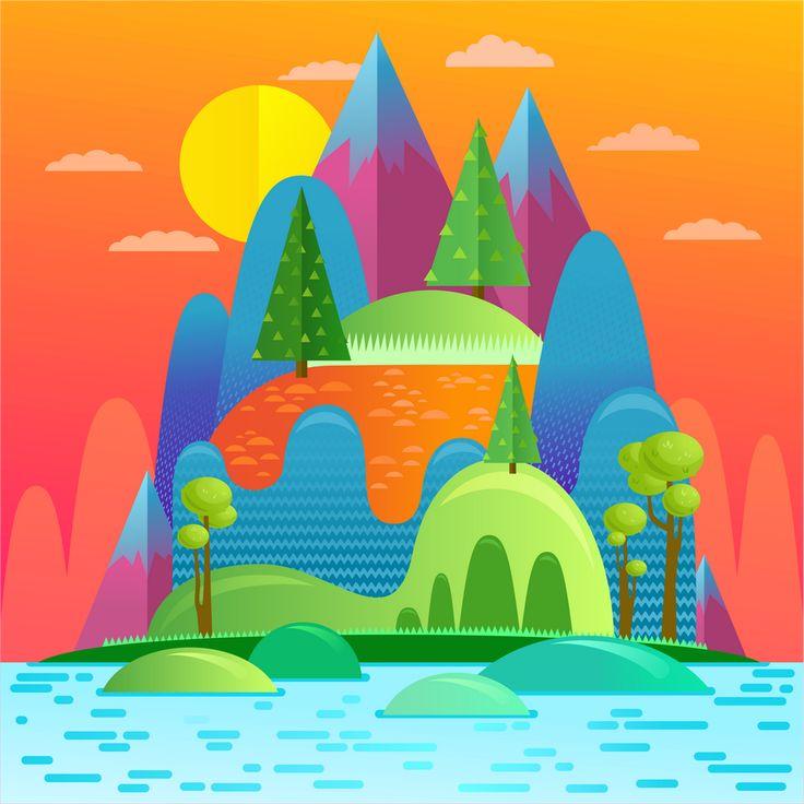 illustration. Nature by Kristina Slava