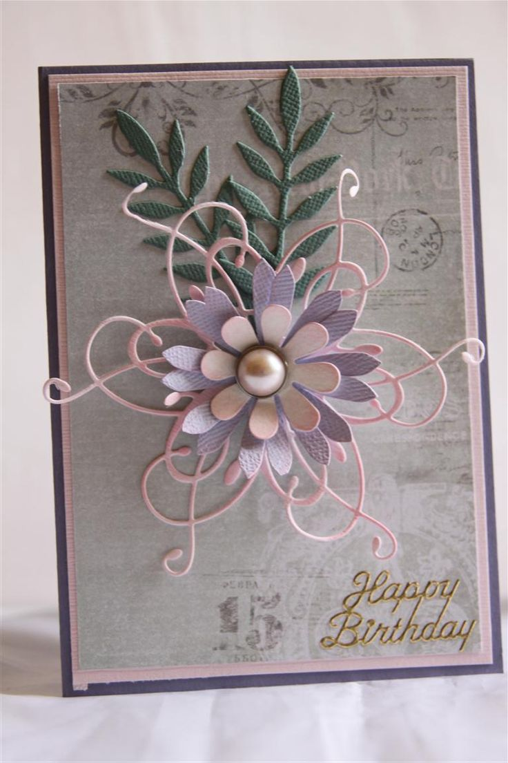 Memory Box Dies For Cards | memory box meadow leaf | Helens Card Designs