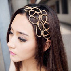 Europe Style and Elegant Openwork Braided Flower Shape Hair Band