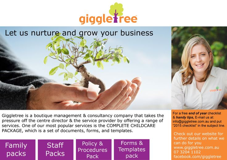 Services offered to Early Learning Centres www.giggletree.com.au