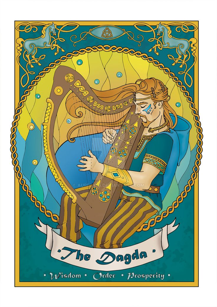 The Dagda coloured page - 2017 by Aurelie-S