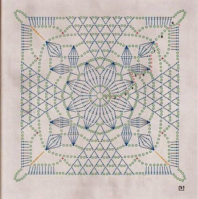 Crochet motif diagram. It's kind of beautiful just in itself.