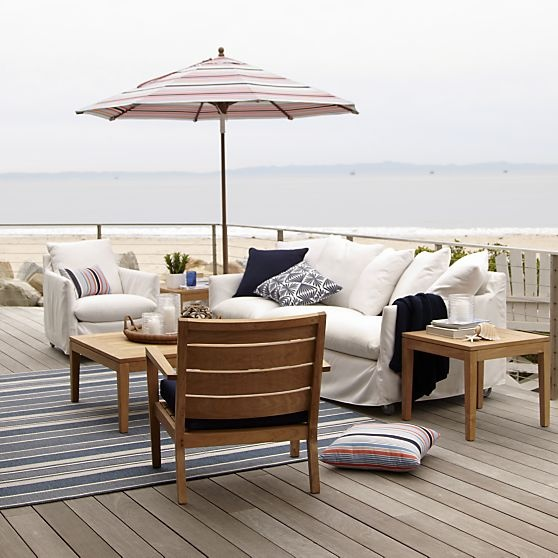 Catalina Lounge Chair With Casters In Outdoor Lounging