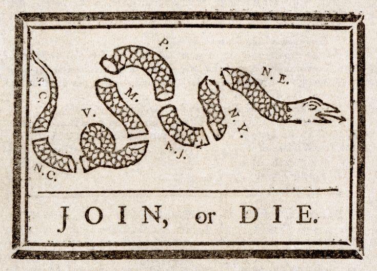American Revolutionary Propaganda Join, or Die.
