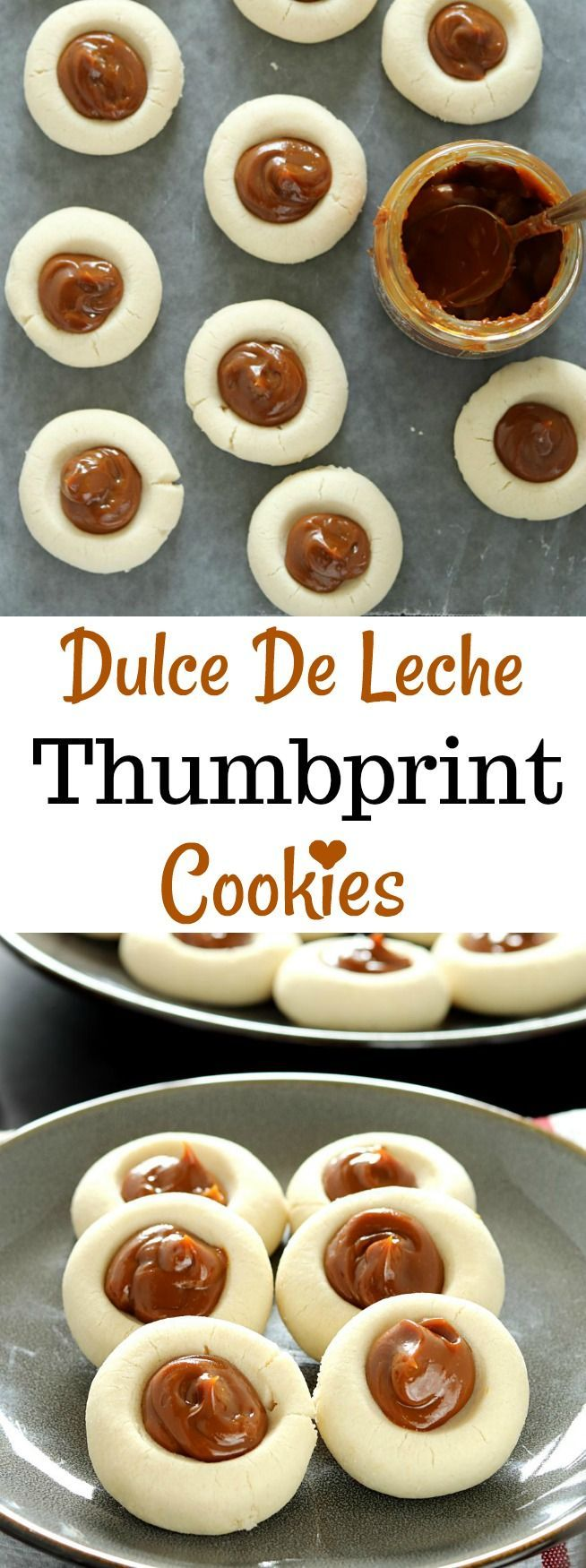 Whether be a potluck or picnic, Dulce De Leche Thumbprint Cookies makes quite a statement. These eye-catching treats are decadently delicious and almost too beautiful to eat!!