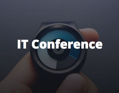 """Check out new work on my @Behance portfolio: """"IT Conference"""" http://be.net/gallery/31676515/IT-Conference"""