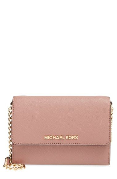 MICHAEL Michael Kors 'Jet Set - Large Phone' Saffiano Leather Crossbody Bag available at #Nordstrom