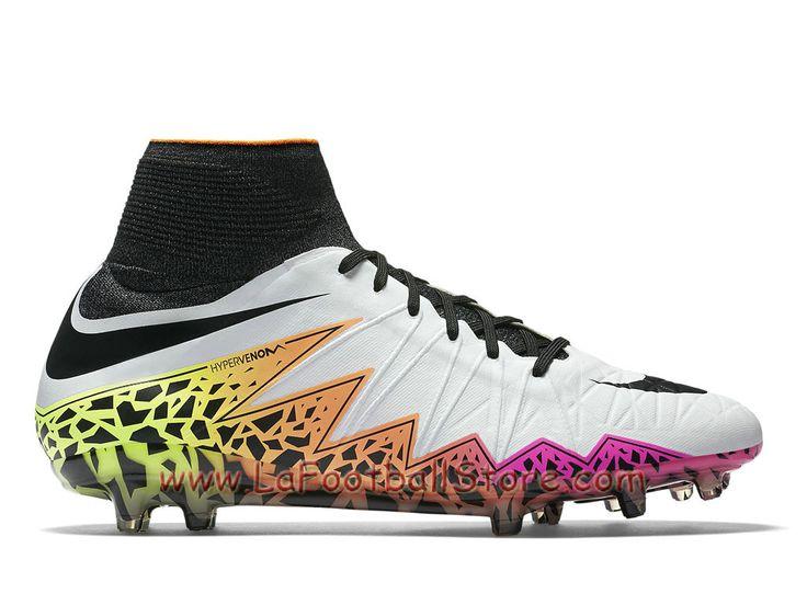 Nike Hypervenom Phantom II FG Pas cher Chaussure Nike Prix de football à crampons pour terrain sec pour Homme Orange total Volt - 747213_108 - Boutique Chaussures De Foot | Maillot de Foot | LaFootballstore.com