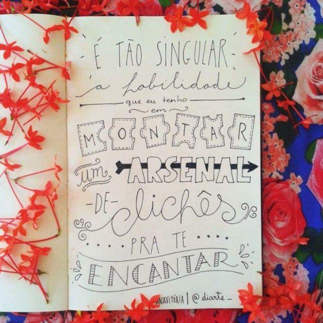 """125 curtidas, 12 comentários - Di Arte  (@diarte_) no Instagram: """"Alguém apaixonado aí? Haha Música linda das meninas da Anavitória. #sketchbookdiarte #diarte_…"""""""