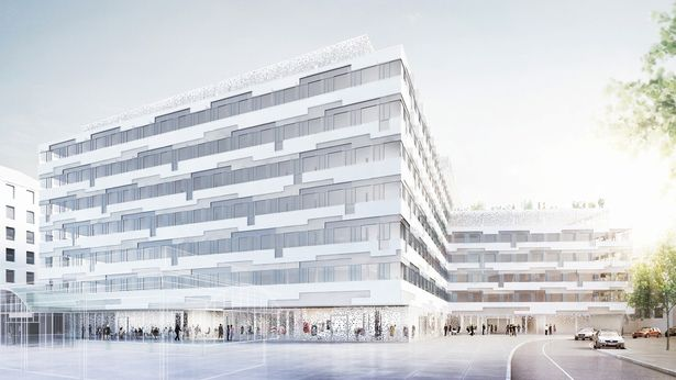 Headquater POST AG | HOLODECK architects | Rendering ©isochrom | Archinect