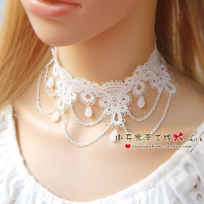 Свободная перевозка груза шнурка ожерелье ожерелье Lei Сими белая женщина ключицы воротник платья невесты ювелирных изделий венчания XL032- Taobao