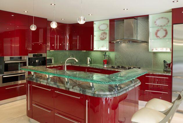 Moderne Küchenarbeitsplatten aus ungewöhnlichen Materialien: 30 Ideen