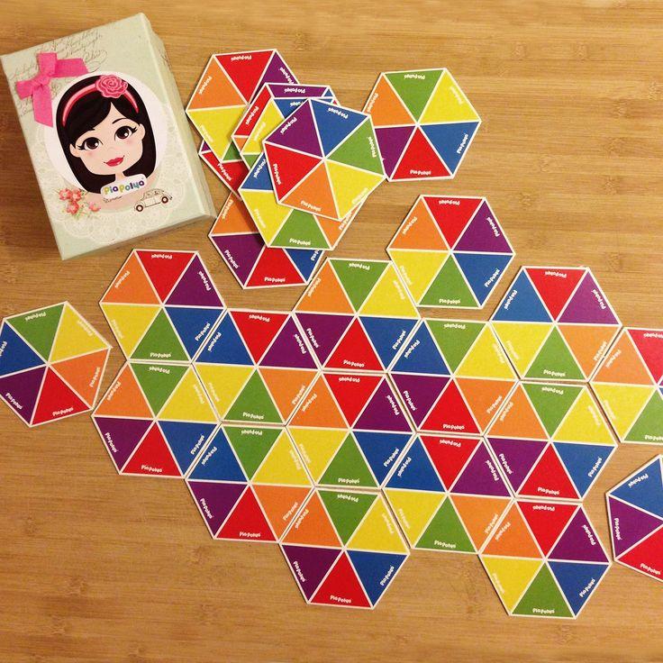 Pia Polya Altıgen Renk Eşleştirme Oyunu 3 yaş üzeri çocuklar için