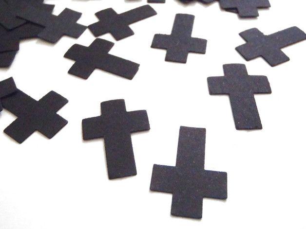 Decorazioni - croci nere coriandoli nozze matrimonio gotico - un prodotto unico di LaSoffittaDiSte su DaWanda