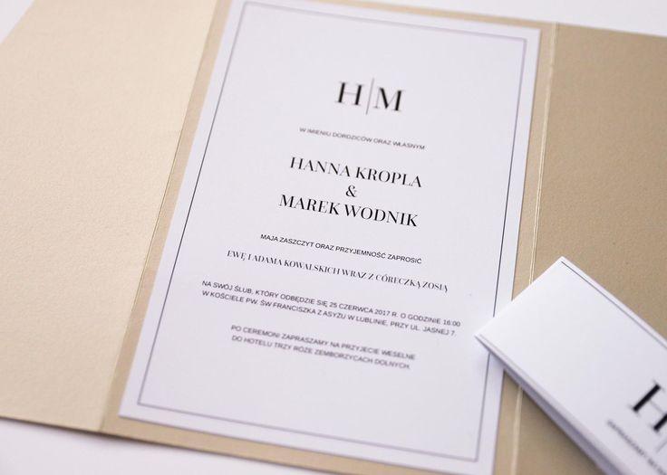 zaproszenia w folderze eleganckie