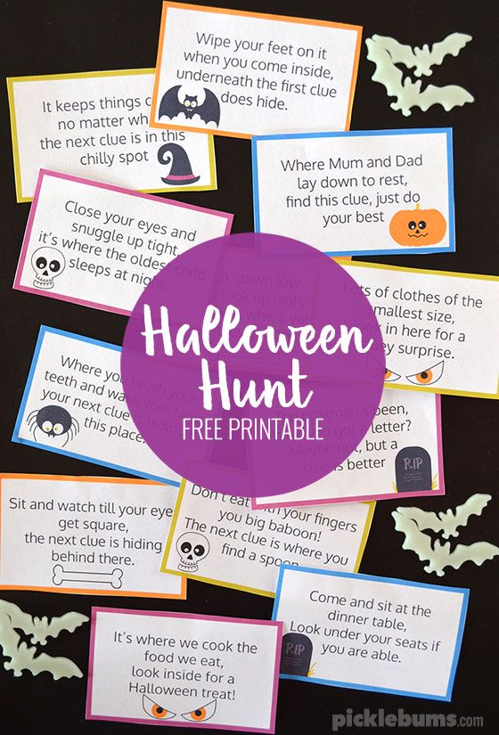 Halloween Hunt Free Printable Halloween games for kids