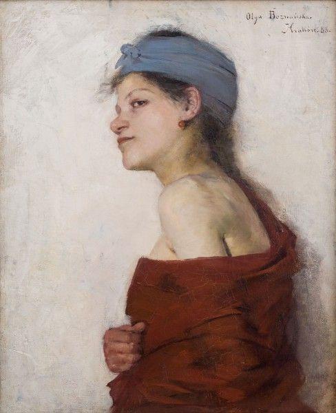 """Olga Boznańska, """"Portret kobiety (Cyganka)"""", 1888 ,wł. Muzeum Narodowe w Krakowie"""