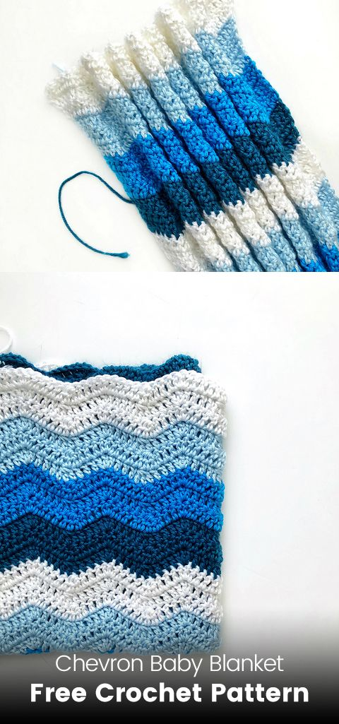 Chevron Baby Blanket Free Crochet Pattern | Maggie\'s Crochet - All ...