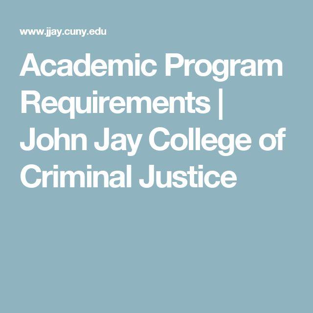 Academic Program Requirements   John Jay College of Criminal Justice