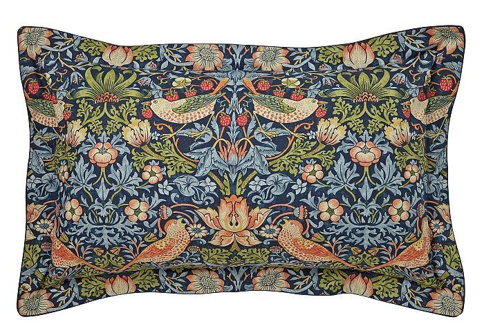 Strawberry Thief Oxford Pillowcase by Morris Indigo