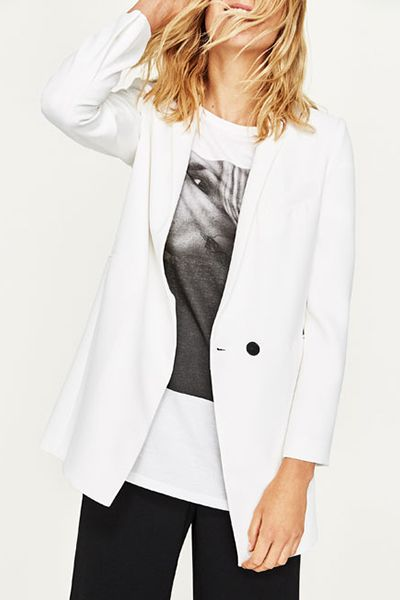 Every woman should have a slick white blazer in her repertoire, too – team with skinny leathers and a tee in winter or snap up a sharply tailored style to wear with midi skirts and throw-on camis for an effortless spring outfit.