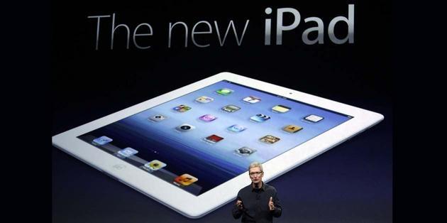 Apple presentó nuevo iPad, la tercera generación de su tableta electrónica, dotada de pantalla retina táctil de alta resolución, procesador de cuatro núcleos, mucho más veloz, conexión de alta velocidad 4G (LTE) y dictado de voz.