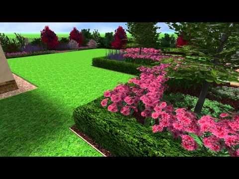 Zahrada v modrorůžové
