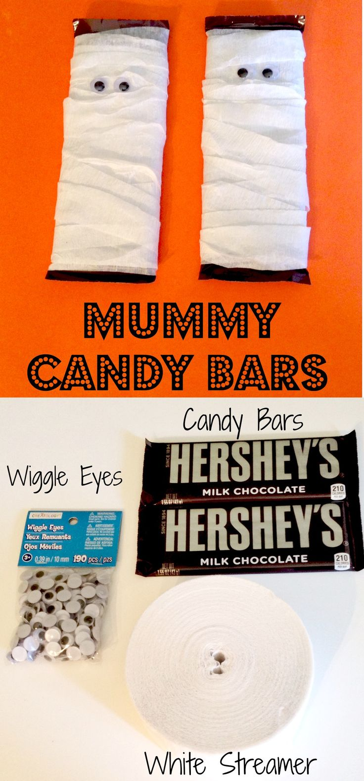 Really cute Mummy candy bars and so easy to do!