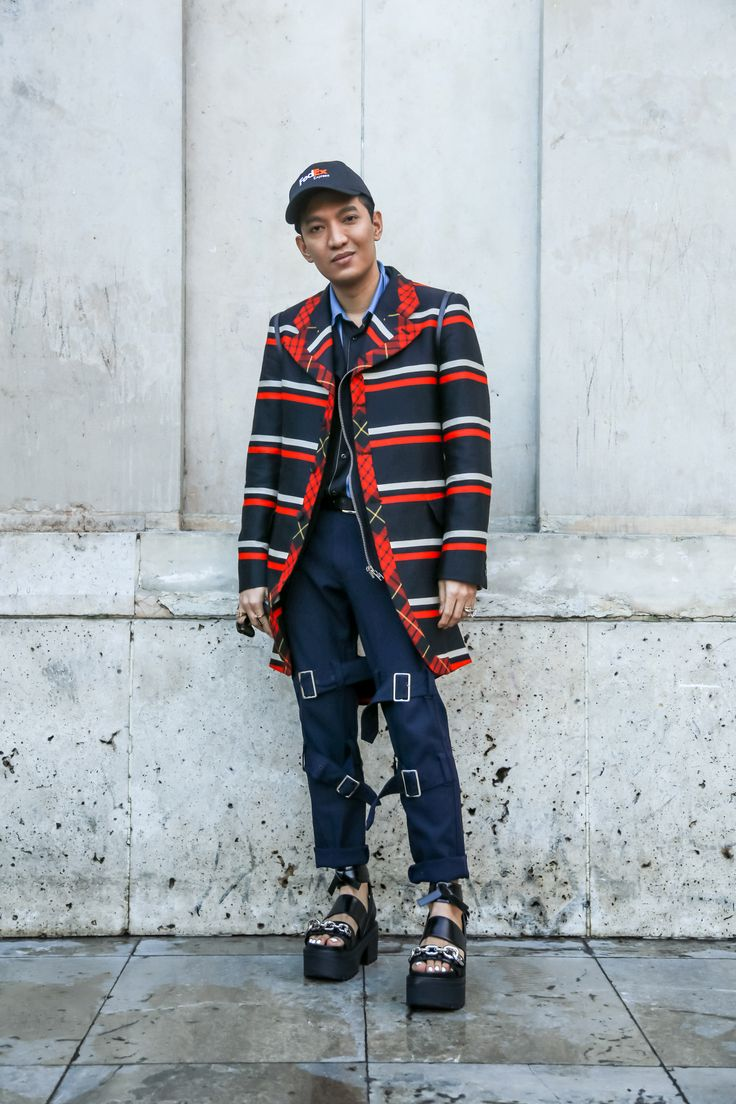 Influencer Bryanboy outside the Rochas show