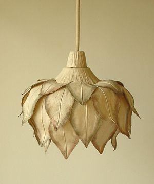 paper flower pendant light by Japanese company Sachie Muramatsu