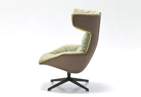 Moroso: Take A Soft Line For A Walk Swivel Armchair by Alfredo Häberli