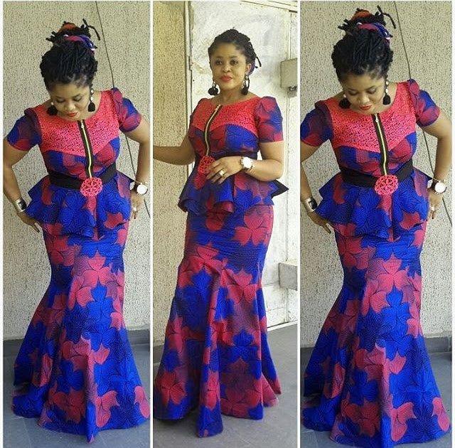 Ankara Styles : Lovely Blouse and Skirt Styles