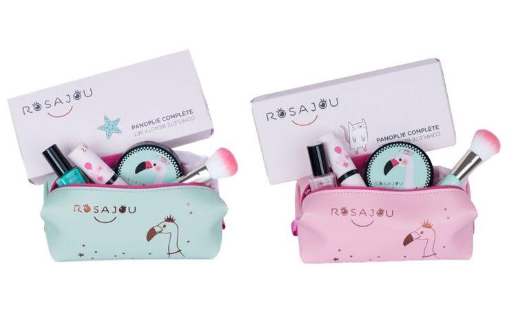Zestaw kosmetyków dla dzieci w różowej kosmetyczce - Rosajou Kalaluszek