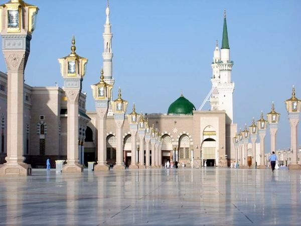 """Al-Masjid al-Nabawi """"Mosque of the Prophet""""), often called the Prophet's Mosque, is in Medina, Saudia Arabia. It is the final resting place of the Islamic Prophet Muhammad (pbuh)."""