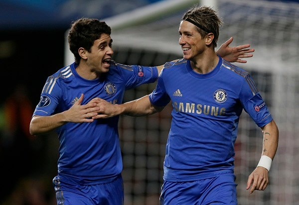 Torres and Oscar celebrate