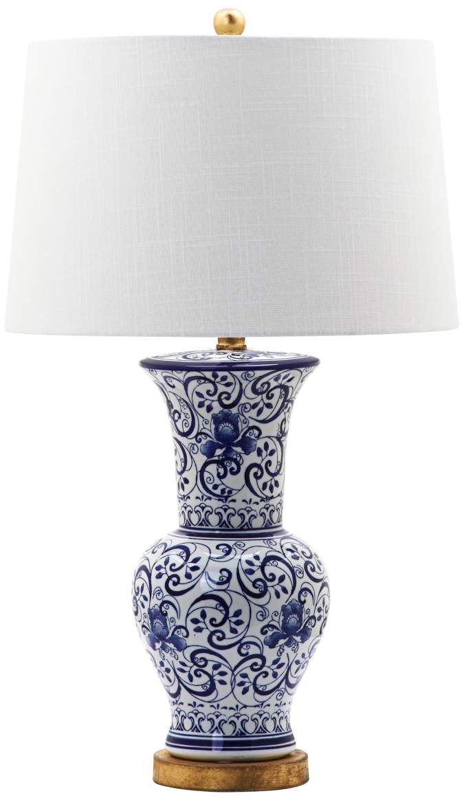 Larger View Ceramic Table Lamps Table Lamp Blue And White Vase