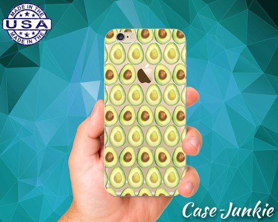 Avocado Pattern Fruit Seed Green Cute Guacamole Clear Case iPhone 5/5s, iPhone 5C, iPhone 6 iPhone 6 +, iPhone 6s, iPhone 6s Plus iPhone SE