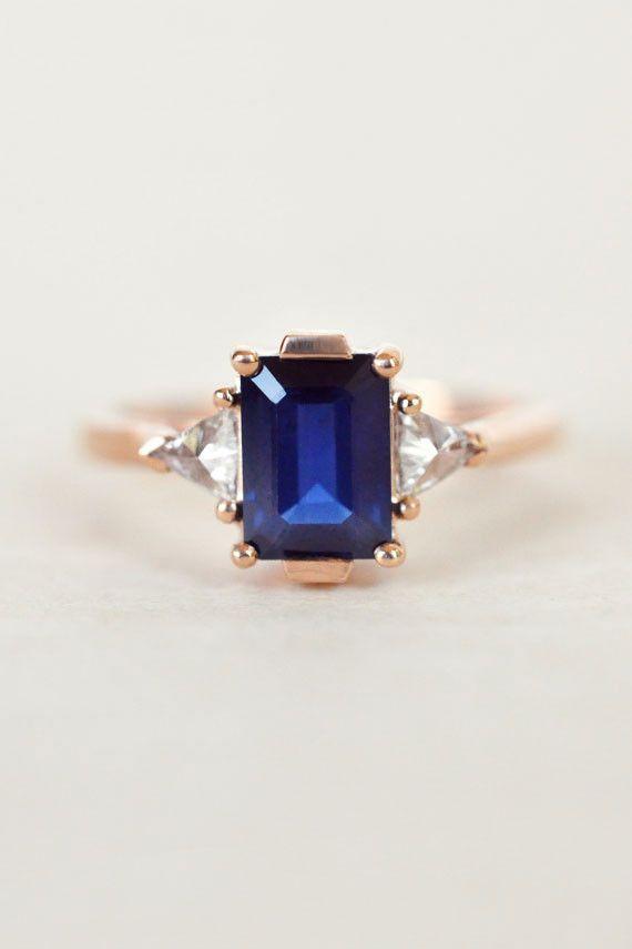 Anna Sheffield Engagement Ring - Blue Sapphire Bea Ring | BONA DRAG