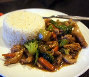 Honey Chicken Stir Fry Recipe- Made extra sauce and cut up fresh veggies rather than use frozen.