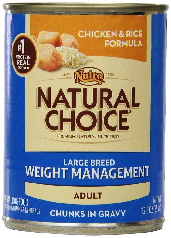 Natural Choice Dog Large Breed Weight Management Chicken and Rice Dinner Chunks in Gravy Dog Food Cans, 12-1/2-Ounce, 12 pack cans -- Hurry! Check out this great product : Dog food types