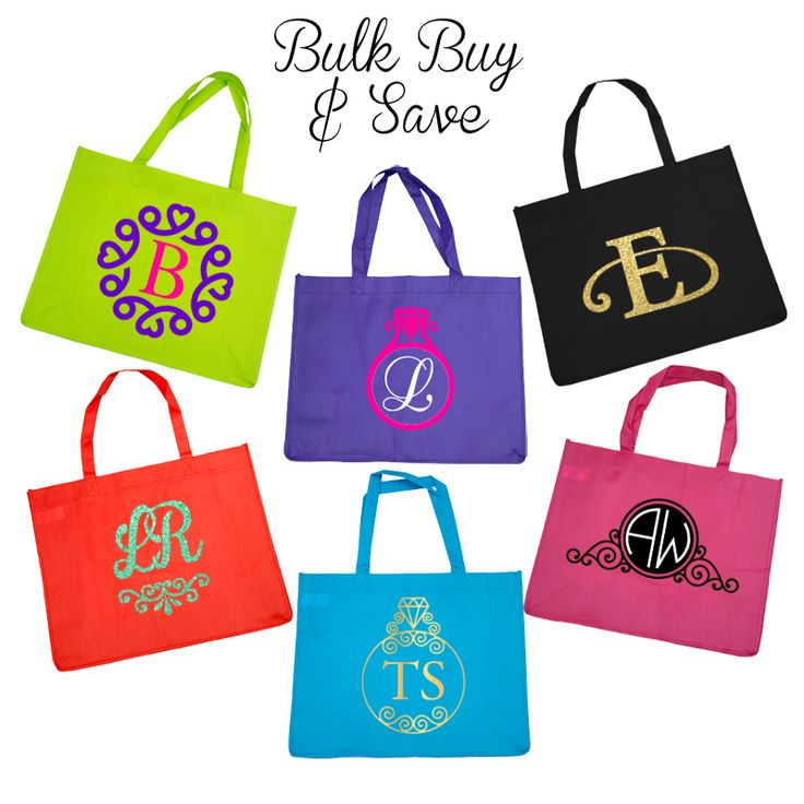 Budget Tote Bag with Monogram - Bulk Buy