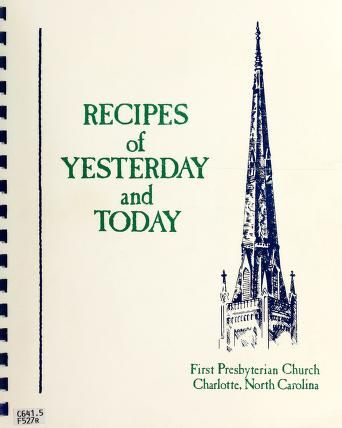 Recipes of yesterday and today