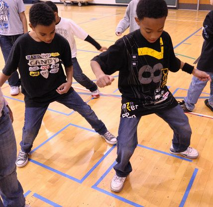 Integrating dance into the math curriculum to teach basic skills. Could be adapted for multiplication and division.