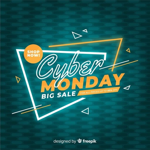 Download Cyber Monday Concept In Flat Design For Free In 2020 Print Design Template Free Graphic Design Graphic Design Templates
