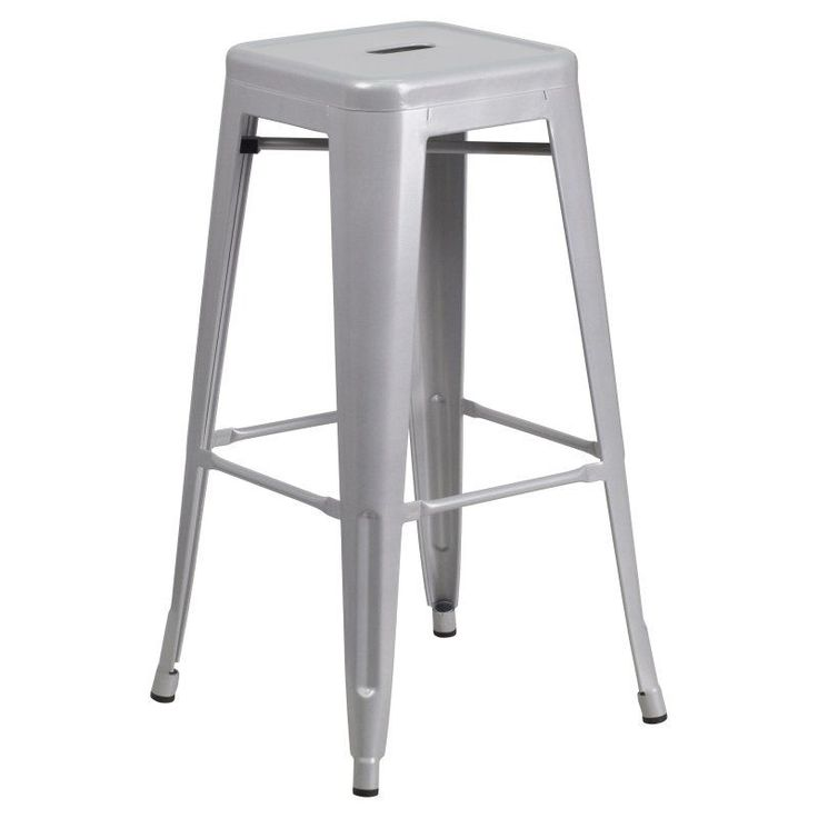 Flash Furniture Jameson 30 in. Metal Bar Stool Silver - CH-31320-30-SIL-GG
