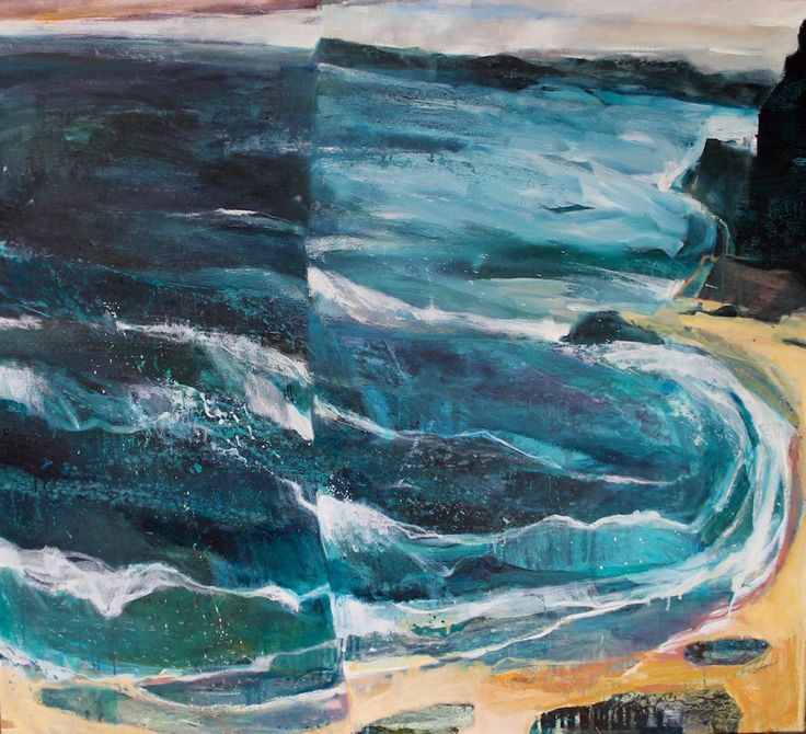 Waves Of Exhilaration 3 Triptych – Oil on Board PLATFORMstore