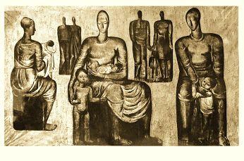 Eva Prokopová- malba do vst. haly porodnice dipl. práce r. 1962  hlavní cena AVU,