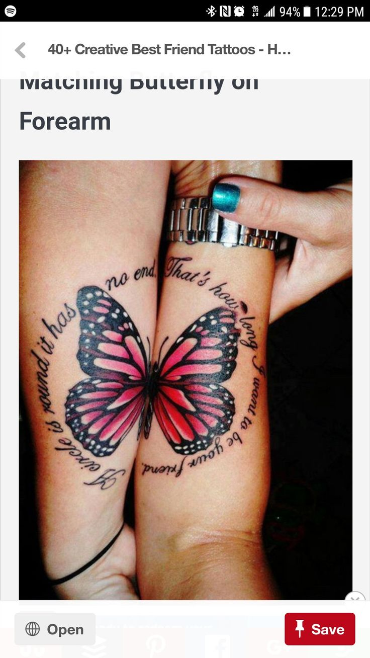 101 staggering best friend tattoos inkdoneright - 25 Matching Butterfly On Forearm